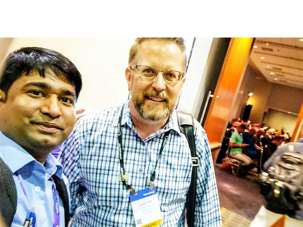 Nagaraj (Canarys) with Phil Webb